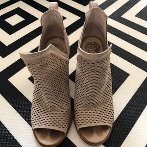 Vince Camuto peep toe booties size 7.5